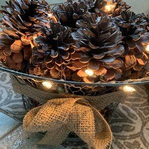 Light up pine one decor